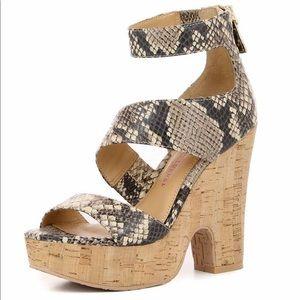 Elaine Turner Brooklyn Leather Wedge Sandals S 8.5